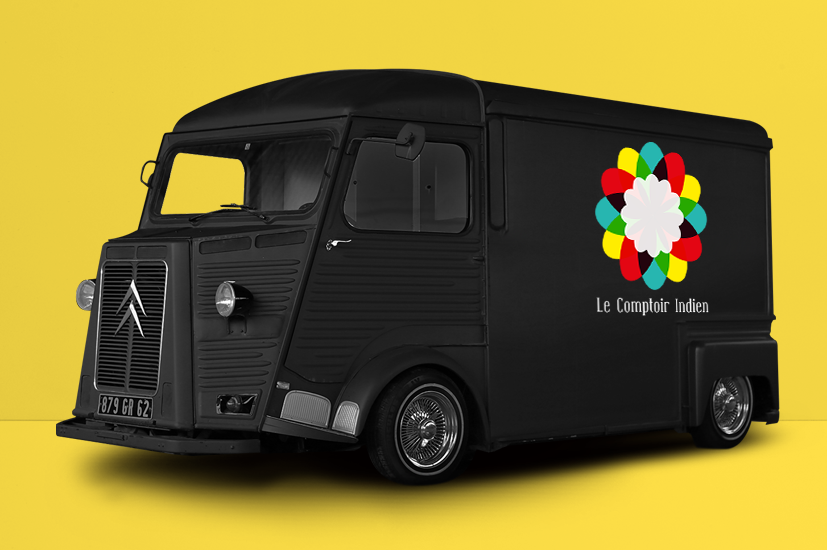 logotype Food Truck Indien